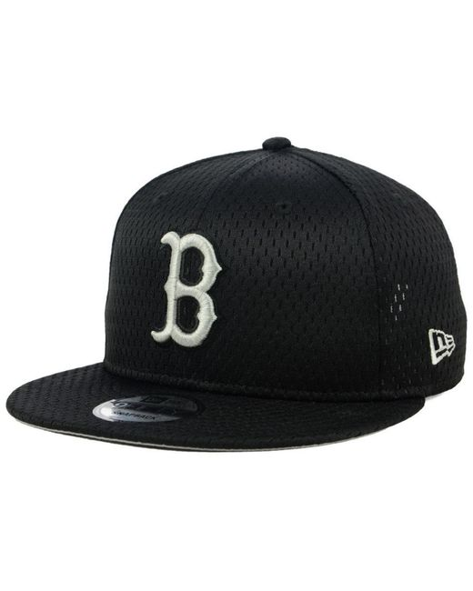 ef5d32eff35817 ... amazon ktz black boston red sox batting practice mesh 9fifty snapback  cap for men lyst a8017