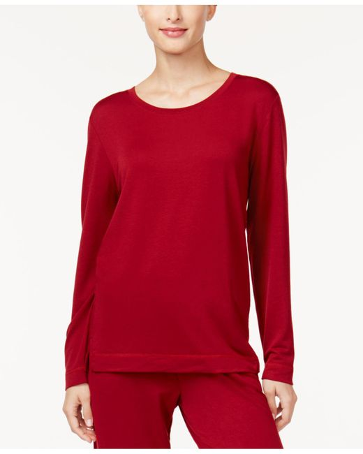 Hue | Red French Terry Pajama T-shirt | Lyst