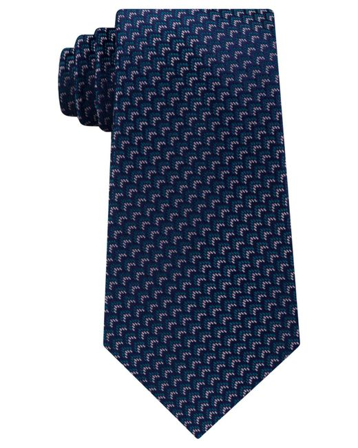 Michael Kors | Blue Men's Woodland Geo Silk Tie for Men | Lyst