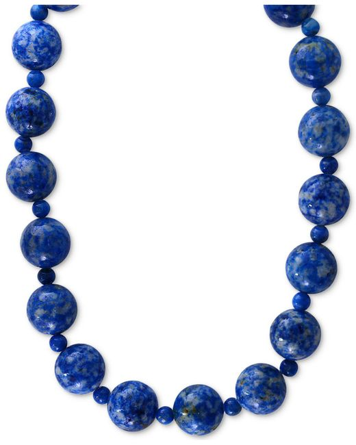 Effy Collection - Multicolor Lapis (4 & 12mm) Beaded Collar Necklace In 14k Gold - Lyst