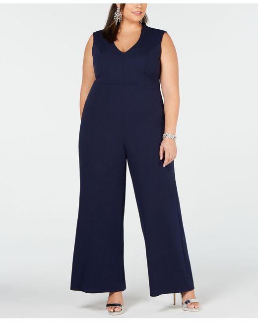 649a5a3afe9 Soprano - Blue Trendy Plus Size V-neck Jumpsuit - Lyst ...