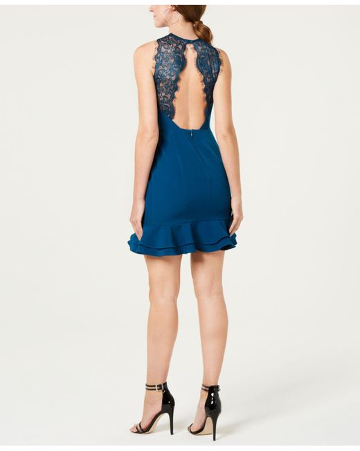 19 Cooper Open Lace Back Sheath Dress In Blue Save 56 Lyst