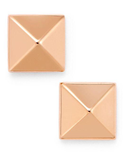 Macy's - Metallic Pyramid Stud Earrings In 14k Gold - Lyst