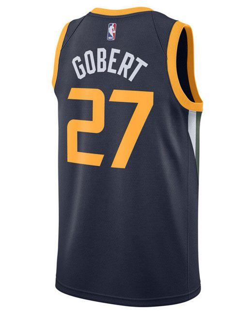 9b09277d2 Nike - Blue Rudy Gobert Utah Jazz Icon Swingman Jersey for Men - Lyst ...