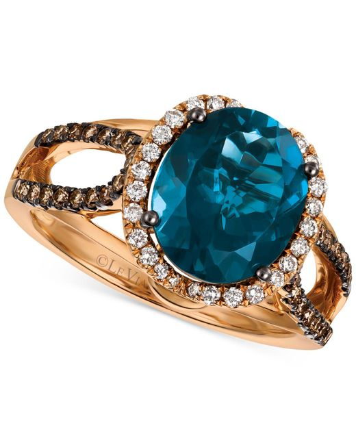 Le Vian - London Blue Topaz (4 Ct. T.w.) And Diamond (3/8 Ct. T.w.) Ring In 14k Rose Gold - Lyst