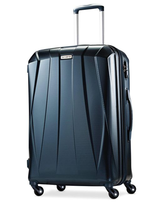"Samsonite | Blue Vibratta 25"" Hardside Spinner Suitcase | Lyst"