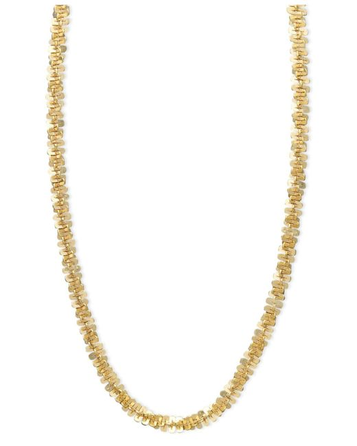 "Macy's - Metallic 14k Gold Necklace, 20"" Faceted Chain - Lyst"