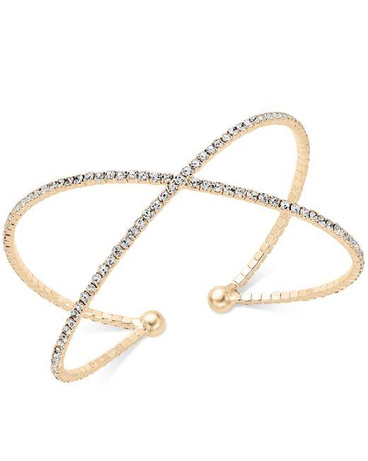 INC International Concepts   Metallic Pavé X Flex Bracelet   Lyst