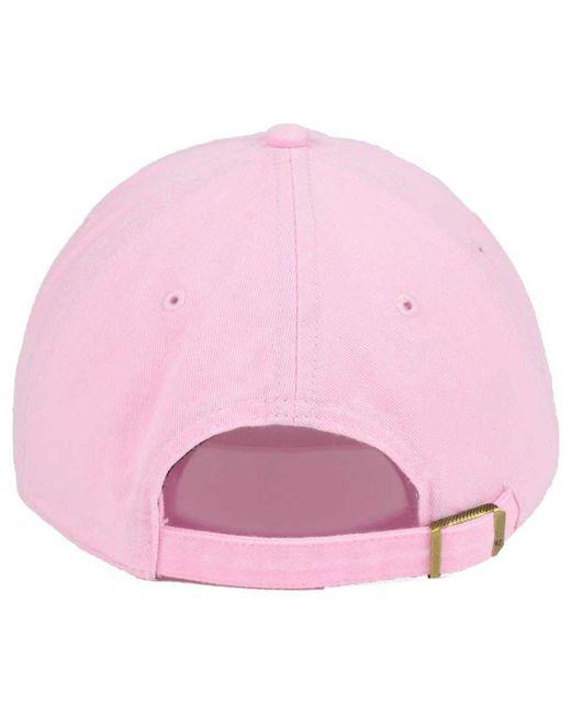 san francisco e178f 353e3 ... uk 47 brand womens pink white clean up cap 3b3be 1cbff