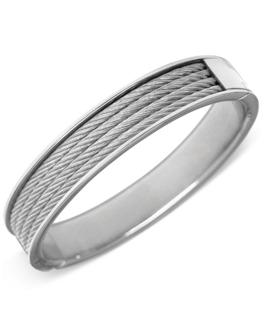 Charriol | Metallic Silver-tone Cable Bangle Bracelet | Lyst