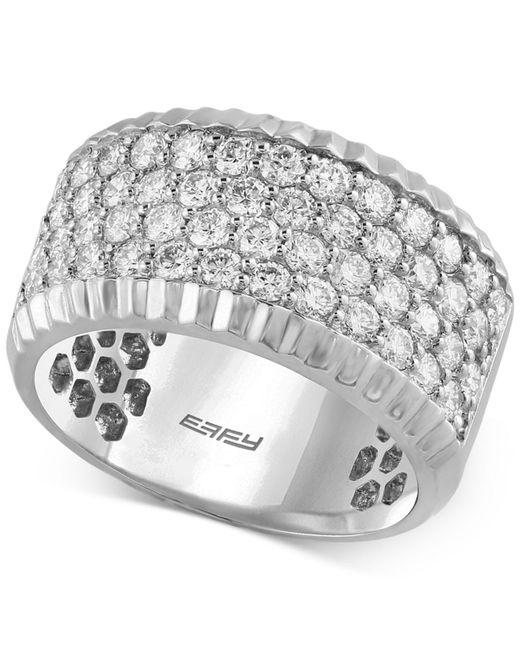 Effy Collection - Metallic Diamond Ring (1-1/2 Ct. T.w.) In 14k White Gold - Lyst