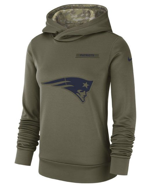 innovative design 3cf0b bac61 Women's Green New England Patriots Salute To Service Therma Hoodie