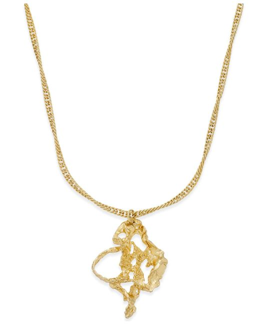 Charter Club | Metallic Gold-tone Molten Metal Pendant Necklace | Lyst