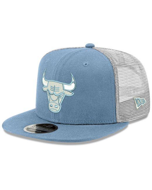 7e5c9f94 KTZ - Blue Chicago Bulls Dub Fresh Trucker 9fifty Snapback Cap for Men -  Lyst ...