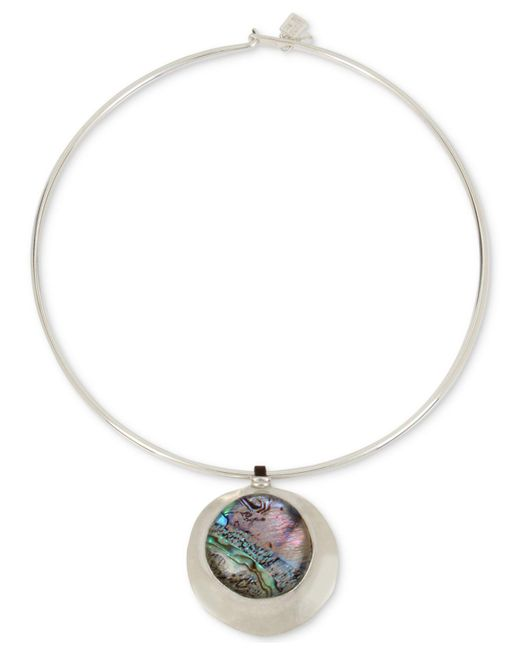 """Robert Lee Morris - Metallic Silver-tone Abalone-look Wire 16"""" Pendant Necklace - Lyst"""