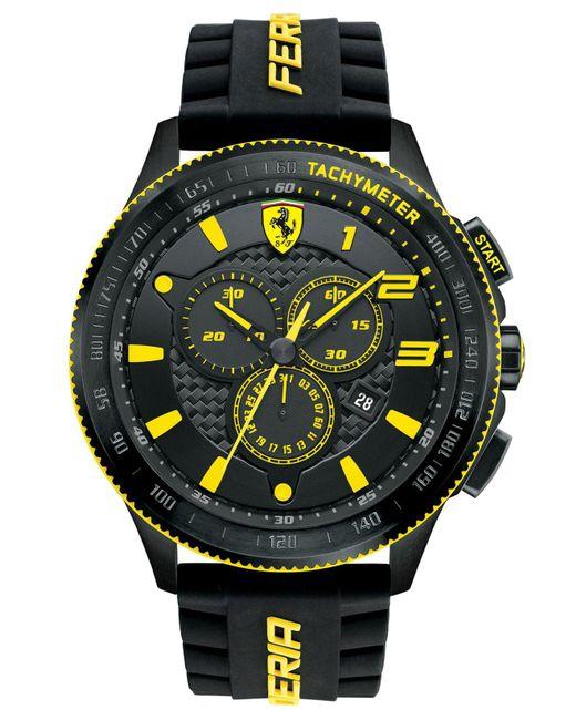 Ferrari - Men's Chronograph Scuderia Black Silicone Strap Watch 48mm 830139 for Men - Lyst