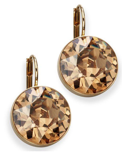 Swarovski | Earrings, Bella Yellow Crystal Drops | Lyst