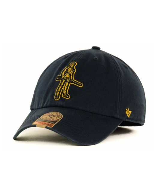 47 Brand - Blue West Virginia Mountaineers Franchise Cap for Men - Lyst
