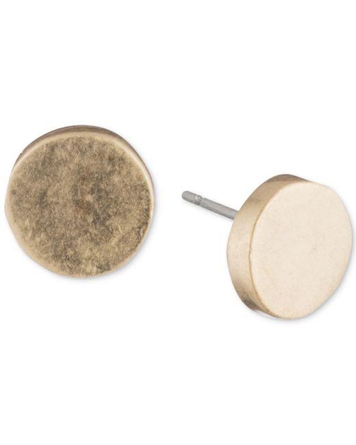 DKNY - Metallic Silver-tone Circle Stud Earrings - Lyst