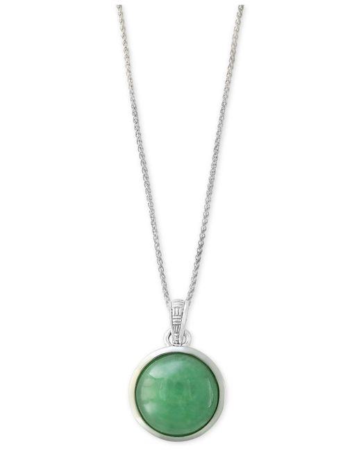Effy Collection | Metallic Jade (12mm) Pendant Necklace In Sterling Silver | Lyst