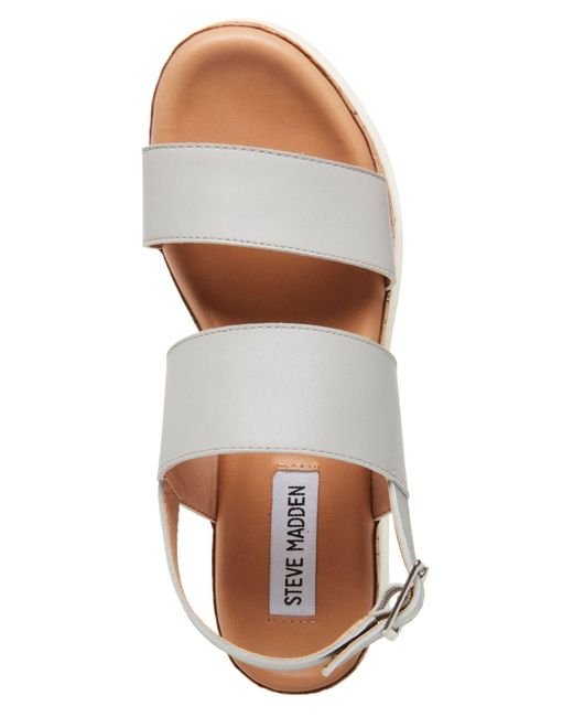 2a5b5ce61e4 ... Steve Madden - Gray Brenda Flatform Sport Sandals - Lyst ...