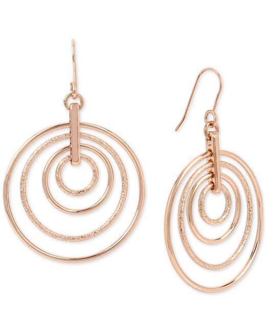 Kenneth Cole | Metallic Rose Gold-tone Orbital Drop Earrings | Lyst