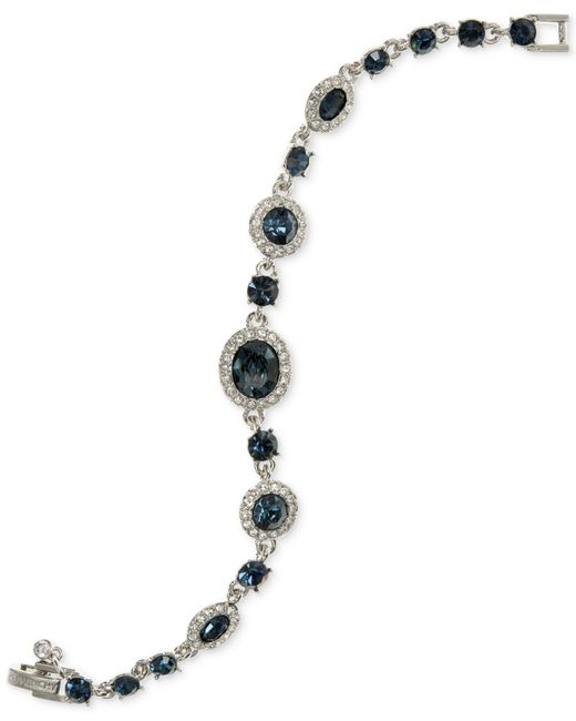 Givenchy - Blue Crystal Flex Bracelet - Lyst