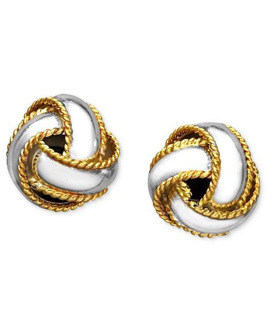 Giani Bernini - Metallic 18k Gold Over Sterling Silver Earrings, Love Knot Stud Earrings - Lyst