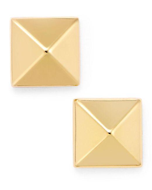 Macy's - Yellow Pyramid Stud Earrings In 14k Gold - Lyst