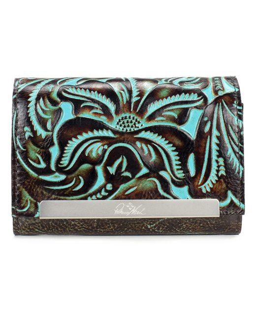 Patricia Nash - Multicolor Cametti Turquoise Tooled Leather Wallet - Lyst