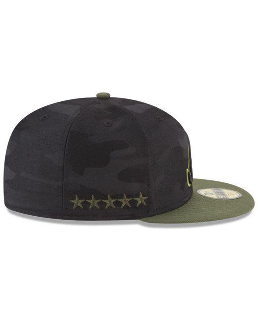 2b645635ff0da2 ... sale ktz multicolor atlanta braves memorial day 59fifty fitted cap for  men lyst dfe4b 4ca46