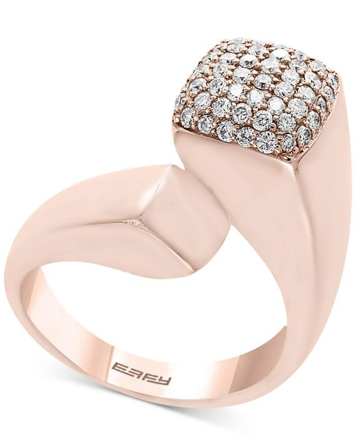 Effy Collection - Pink Diamond Bypass Ring (1/2 Ct. T.w.) In 14k Rose Gold - Lyst