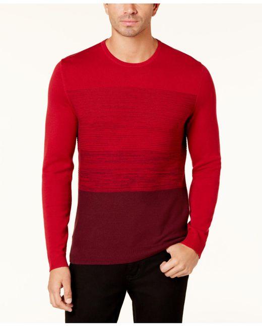 Alfani | Red Men's Colorblocked Sweater for Men | Lyst