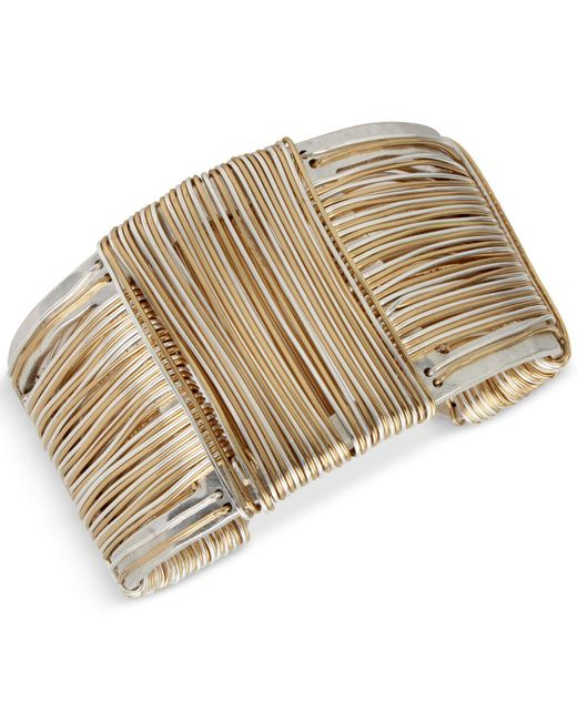 Robert Lee Morris | Metallic Wire-wrapped Sculptural Cuff Bracelet | Lyst