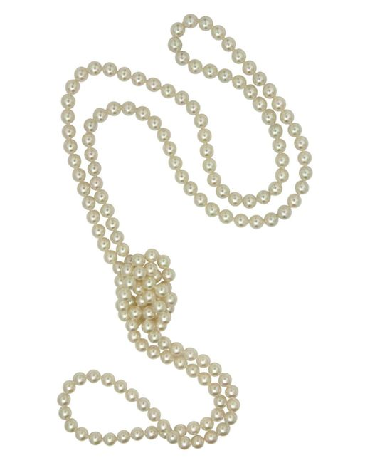Majorica - White Pearl Necklace, Imitation Pearl Endless Rope - Lyst