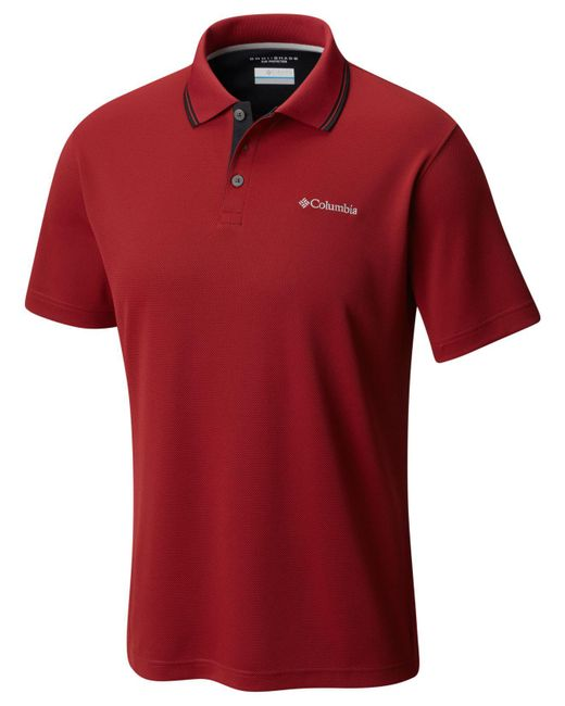 Columbia - Red Utilizer Polo for Men - Lyst