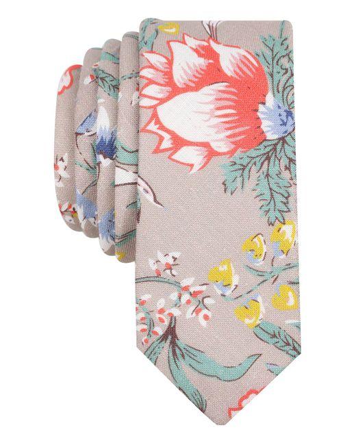 Original Penguin | Gray Men's Yarrow Floral Linen Skinny Tie for Men | Lyst