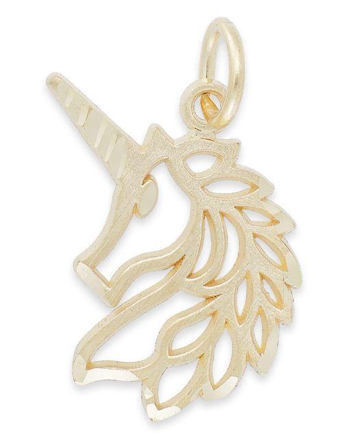 Macy's   Metallic Unicorn Charm In 14k Gold   Lyst