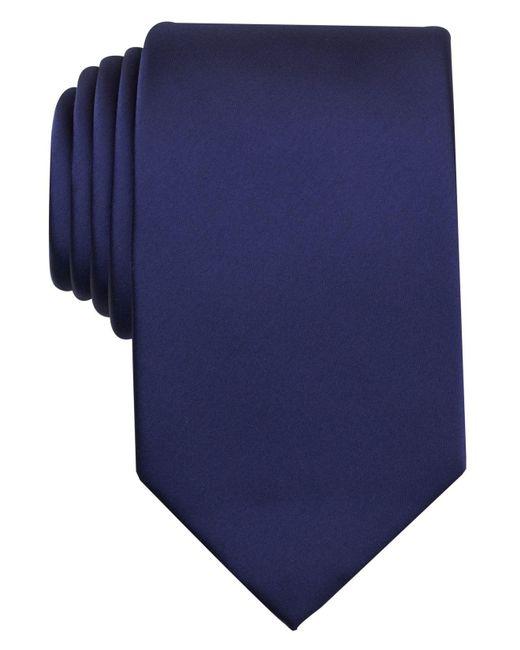 Perry Ellis - Blue Satin Solid Tie for Men - Lyst
