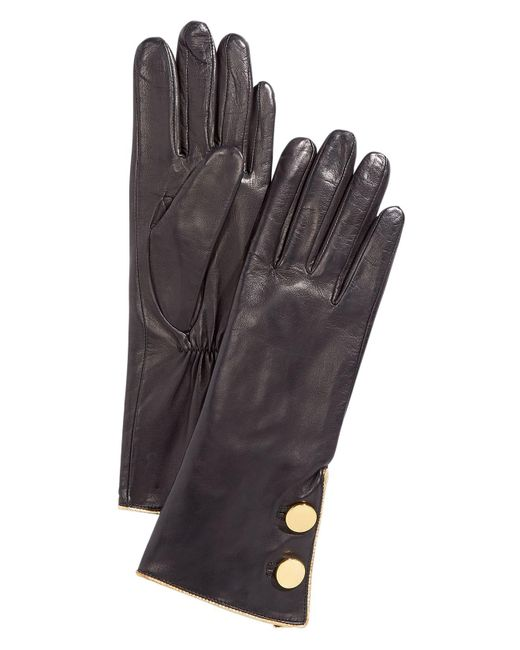 Kate Spade - Black Tipped Button Gloves - Lyst