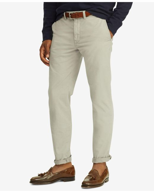 Polo Ralph Lauren - Gray Stretch Chino Pants for Men - Lyst