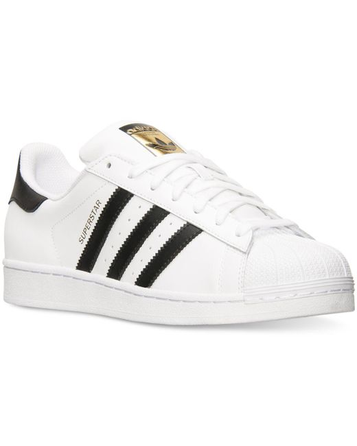 Adidas Originals   White Superstar Leather Sneakers for Men   Lyst