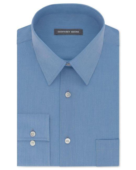 Geoffrey Beene | Blue Men's Classic/regular Fit Wrinkle Free Solid Dress Shirt for Men | Lyst