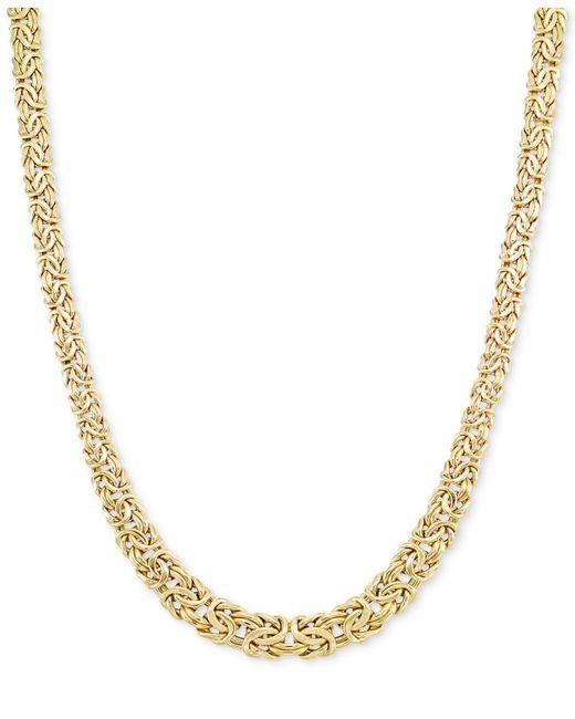 Macy's - Metallic Graduated Byzantine Necklace In 14k Gold - Lyst