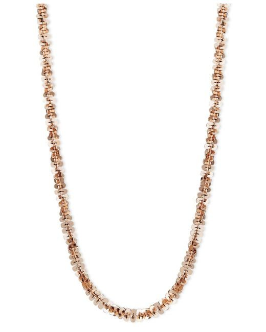 """Macy's - Multicolor 14k Rose Gold Necklace, 18"""" Faceted Chain (1-1/2mm) - Lyst"""