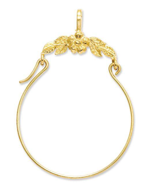 Macy's - Metallic 14k Gold Charm Holder, Polished Floral Charm Holder - Lyst