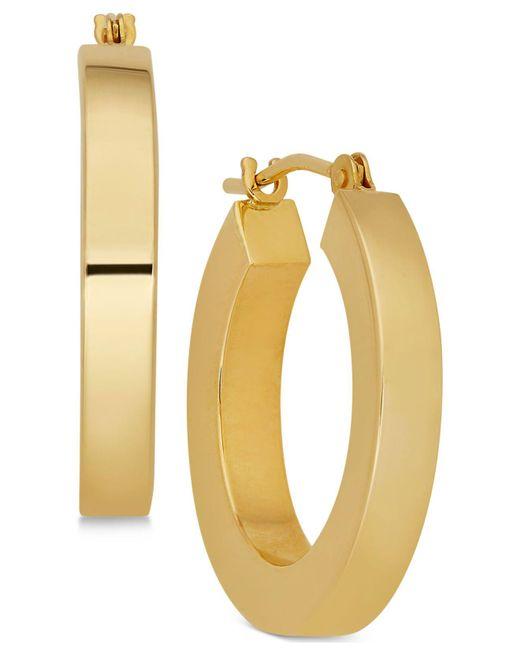 Macy's - Metallic Polished Chunky Flat-edge Tube Hoop Earrings In 14k Gold - Lyst