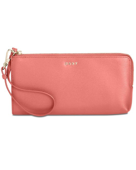 DKNY - Pink Bryant Zip Wristlet, Created For Macy's - Lyst