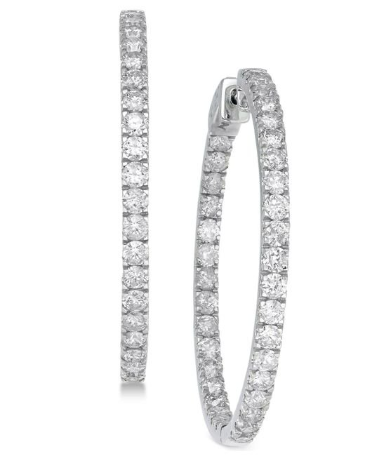 Macy's - Multicolor Diamond In And Out Earrings (5 Ct. T.w.) In 14k White Gold - Lyst