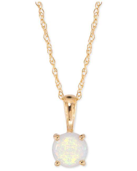 Macy's - Metallic Opal Pendant Necklace (1/6 Ct. T.w.) In 14k Gold - Lyst